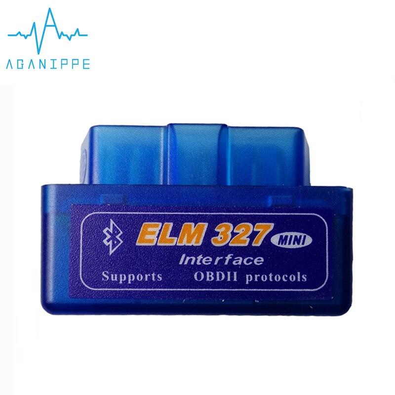 Elm327 V2.1 OBD2 Autoscanner Bluetooth para coche nuevo Material esmerilado Elm-327 2,1 ODB escáner Diagnóstico Auto adaptador lector de código