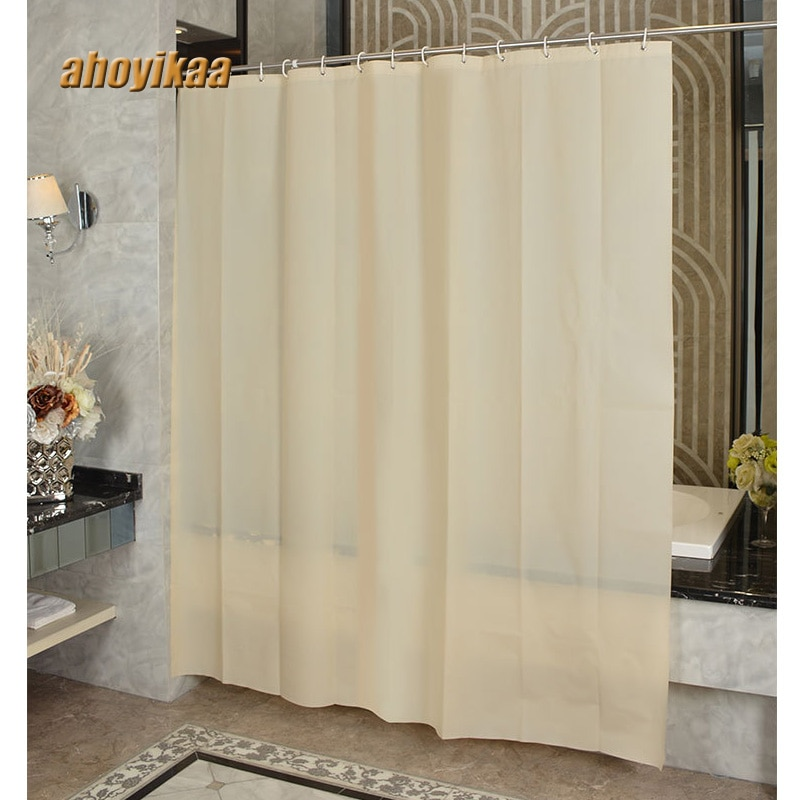 Beige amarillo baño Cortina de ducha baño partición a prueba de cortina de poliéster tela espesante cortina colgante de baño