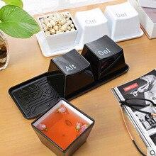 3 pçs/set Novidade Criativa Simples Tipo de Teclado Ctrl ALT DEL Café Chá Caneca Copa Container