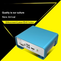 DIY amplifier aluminum enclosure brushed box electric housing customization silkscreen fabrication P01 208.4*71.5*189mm