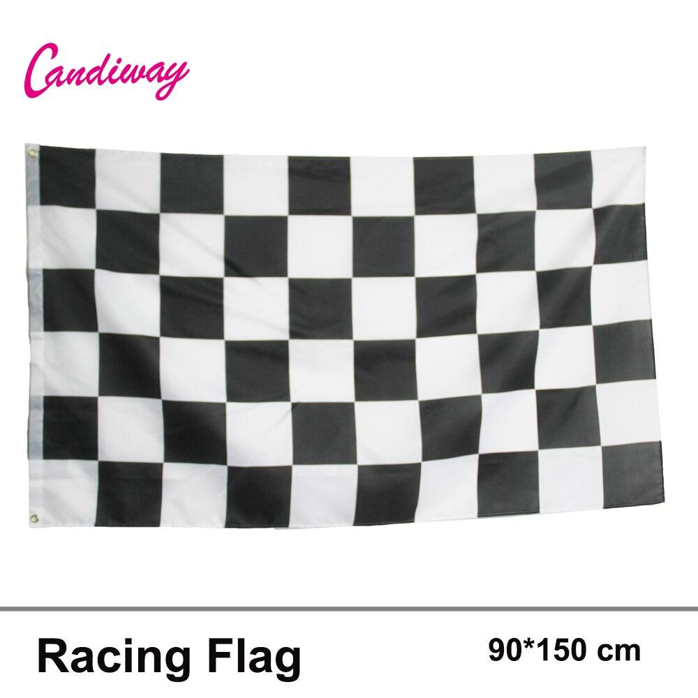 Стикер в клетку для гонок, 3*5 футов, наклейка для автомобиля в виде флага, клейкая наклейка, подвесная наклейка для гонок, клетчатое украшение для дома с изображением флага, мода