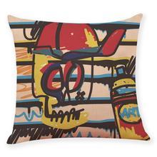 Gajjar Cusion Pillow Neck Pillows Home Decor Cushion Cover Graffi Style Throw Pillowcase Pillow Covers 4.12