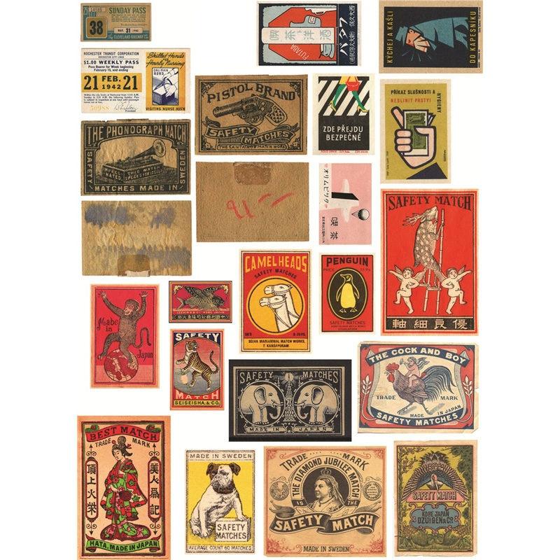 2 unids/lote Vintage Match Mark Logo Deco DIY pegatina del planificador Paquete de cuaderno Agenda pegatinas lindo papelería escuela cosas