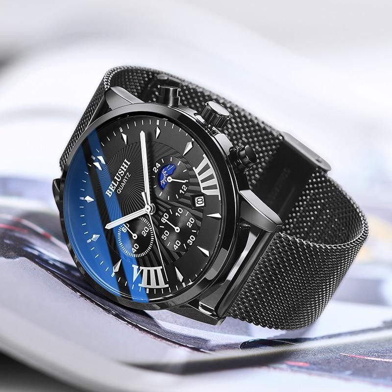 Мужские часы Топ люксовый бренд мужские наручные часы модные кварцевые часы мужские спортивные водонепроницаемые часы мужские часы с хрон...