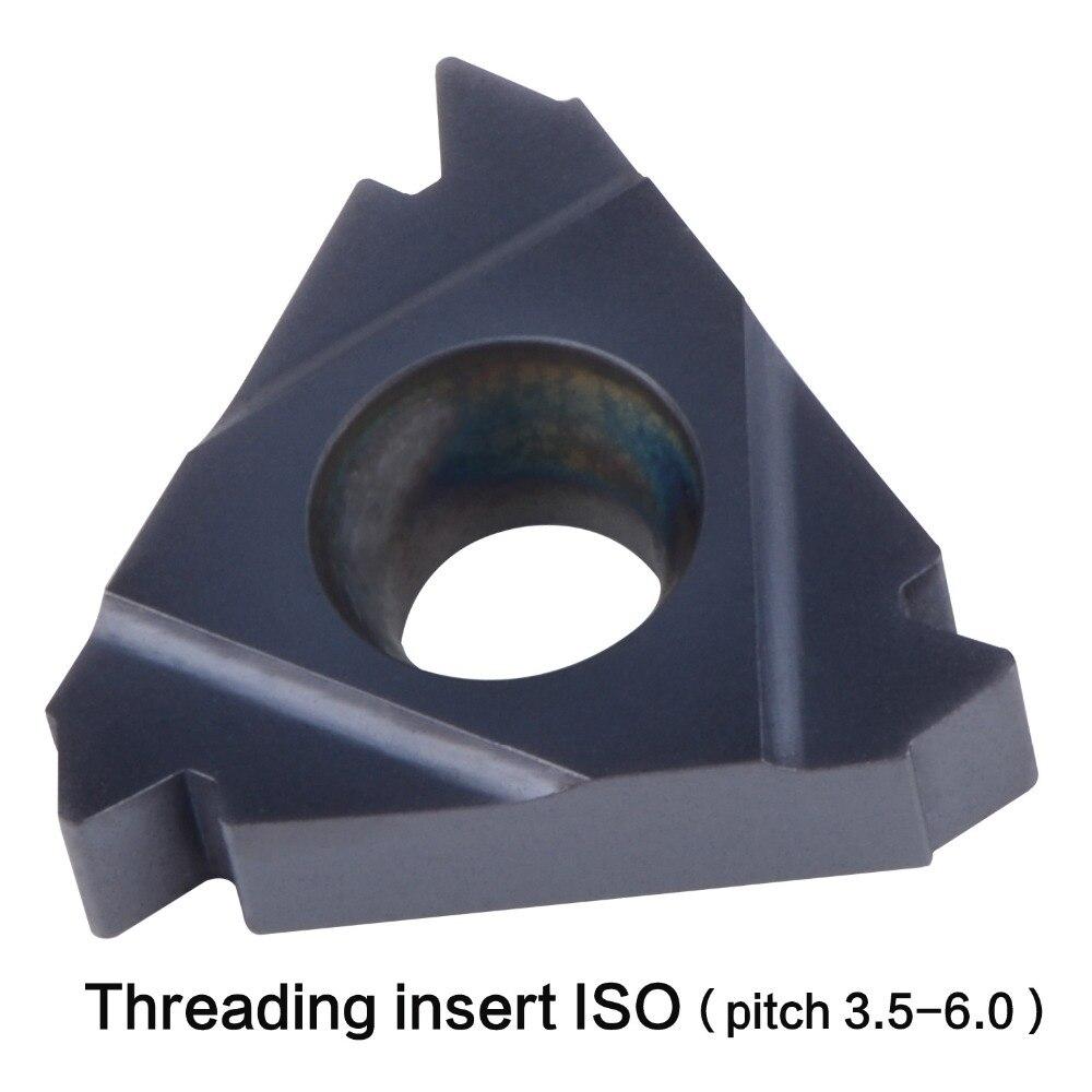 Купить с кэшбэком lathe thread tool 22IR 27IR 22ER 27ER 3.5 4.0 5.0 6.0 ISO thread internal threading insert extenal threading general pitch