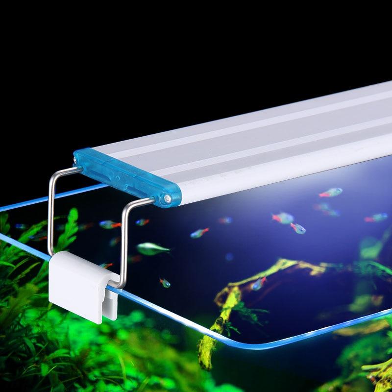 Super Slim LEDs Aquarium Lighting Aquatic Plant Light 18-75CM Extensible Waterproof Clip on Lamp For Fish Tank