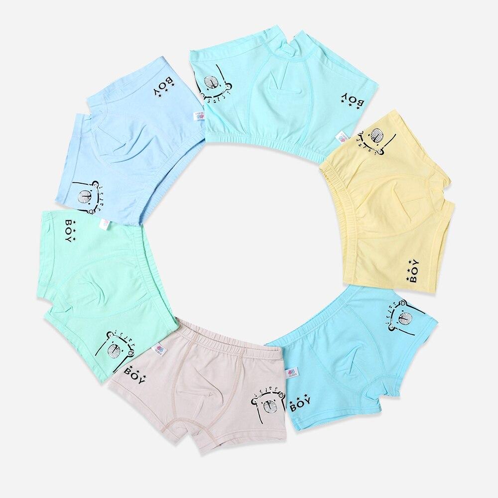 6 unids/lote niños boxeador de los niños ropa interior hombre de bebé de algodón de la ropa interior de los niños de la ropa interior calzoncillos para niños niño ropa interior de 2-7Y