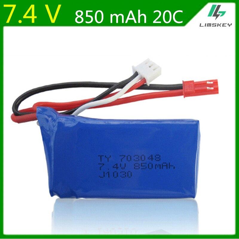 10pcs/lot 7.4V 850mAh lipo  battery For WLtoys V912 V262 V353B  axis aircraft model aircraft batteries 703048  Li-po Battery 2S