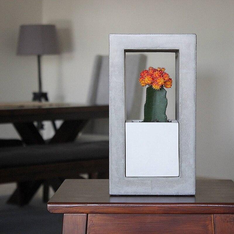 Silikon form für Zement Blume Topf EINE Kombination von Platz Runde und multicapacity prozess Blumentopf Pflanzen Form