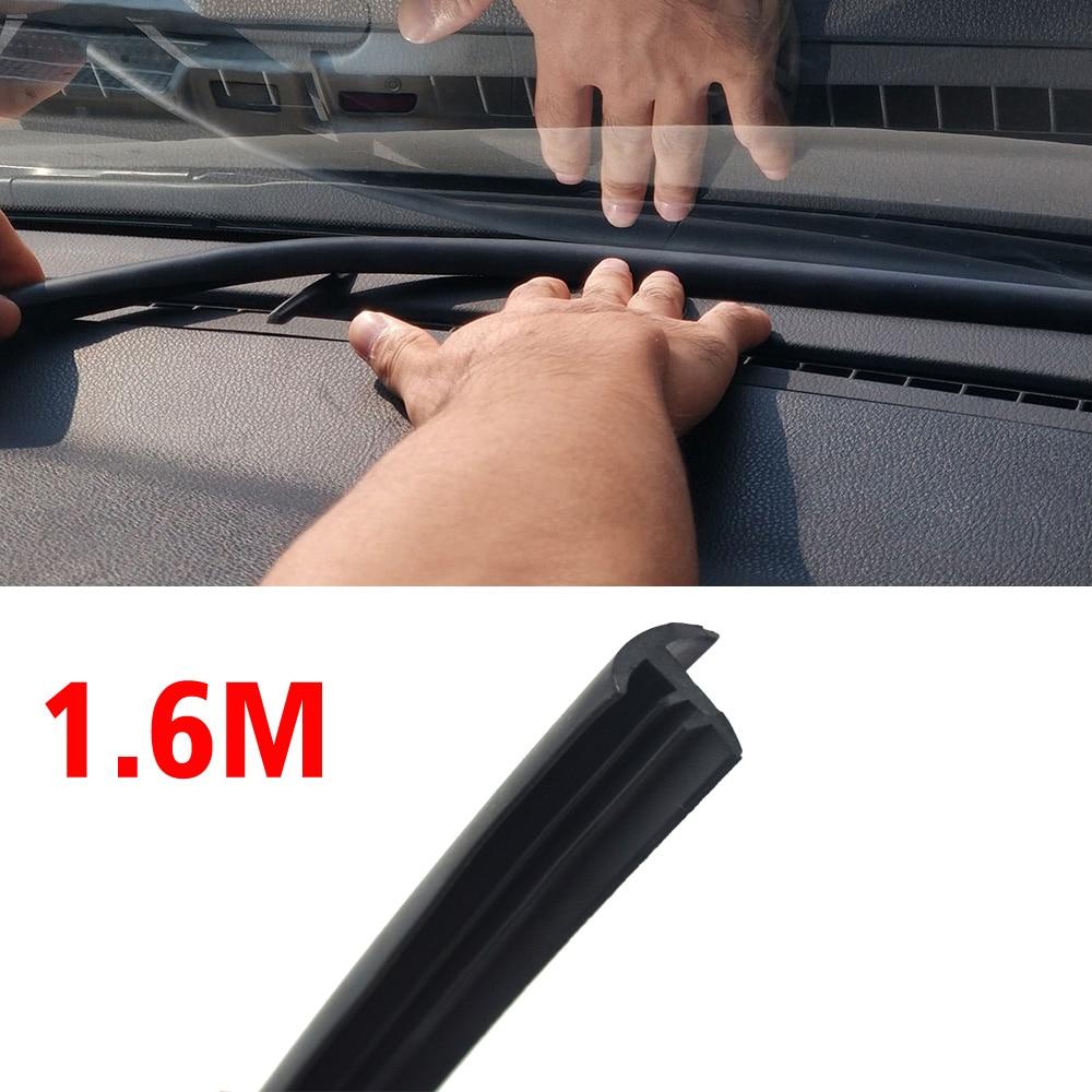 Cinta adhesiva de goma para aislamiento acústico de coche, tipo T, 1,6 unidades, cinta adhesiva de goma Anti-ruido para moldeado de burlete