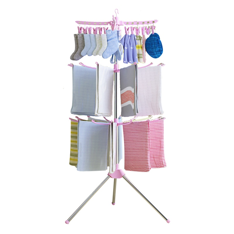 Tendedero plegable para ropa, colgador multifuncional para ropa, organizador de balcón, tendedero para calcetines, colgador