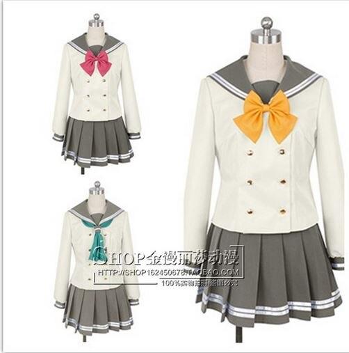 Anime Liefde Live! Sunshine! aqours kurosawa ruby leuke matrozenpakje cosplay kostuum zomer schooluniform lolita gilr dress