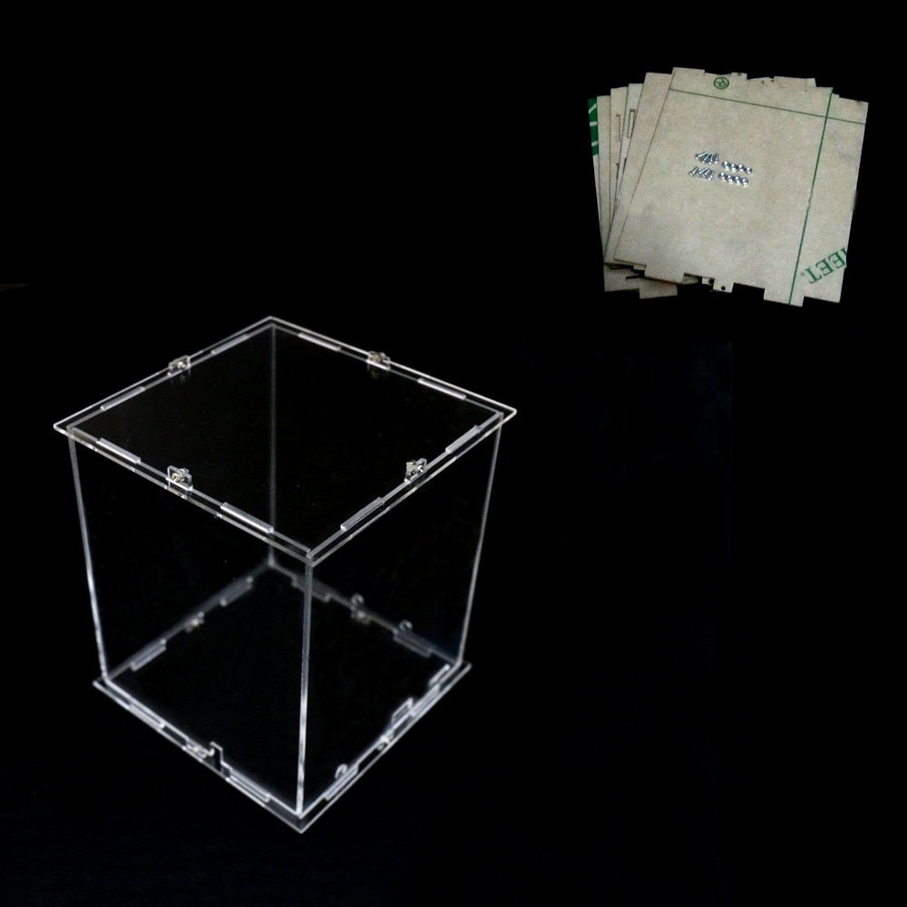DIY 3D 8S البسيطة LED ضوء Cubeeds الاكريليك حالة-ملاحظة: cubeeds مربع فقط مع استخدام لدينا 3d8 البسيطة cubeed ، حجم هو 12x12x h14 cm