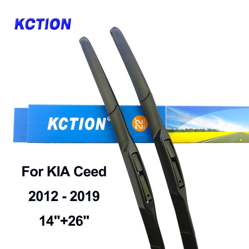 Windshield hybrid front wiper blade windscreen rear wiper car accessories for KIA Ceed year 2006 to 2019 Fit Push Button/U Hook