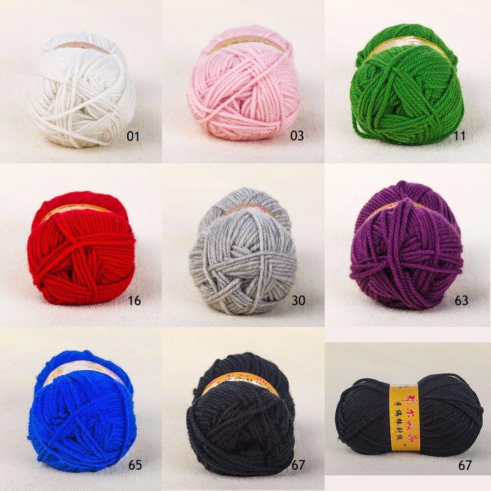 1x100g madeja suave bufanda de lana de oveja hilo de tejer, estambre, hilo de hilo para tejer a mano ganchillo