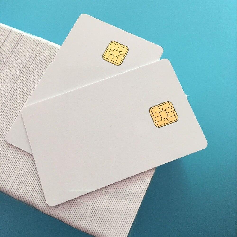 Kontakt Weißen SLE4428 Großen Chip Inkjet Printable Leere Pvc-karte Comp mit SLE5528 Chip Für E pson T50 C anon Tintenstrahldrucker