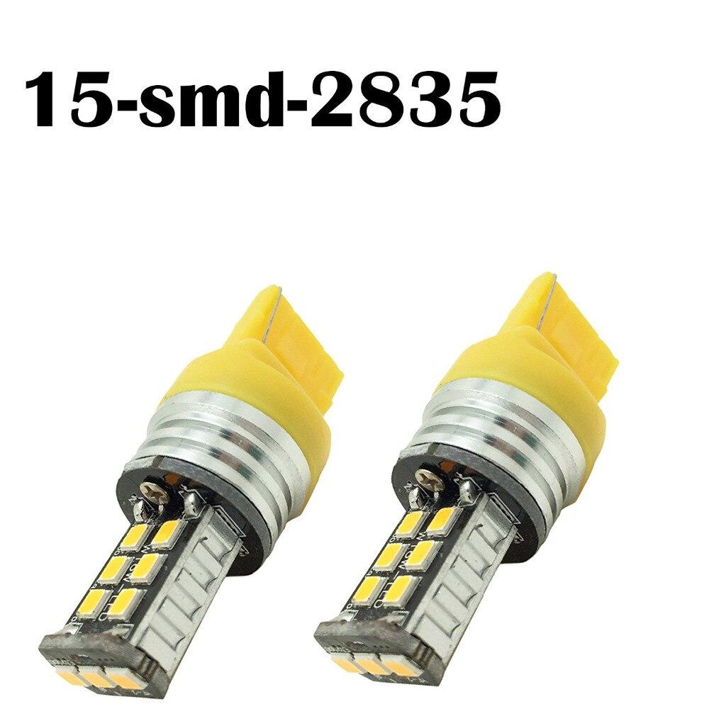 Lámpara T20 7440 15SMD, Chips Samsung, cancelador de cobalto, Captiva, amarelo/Bianca
