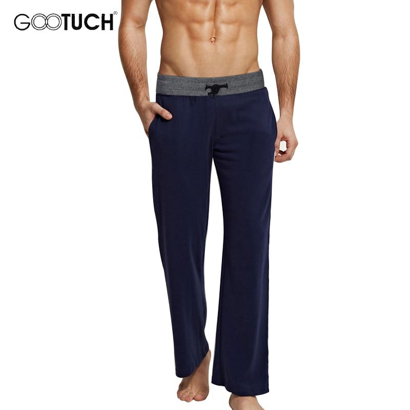 Men's Cotton Sleep Bottoms Sleep Wear Drawstring Pajamas Pants Casual Home Wear Loose Lounge Pants P