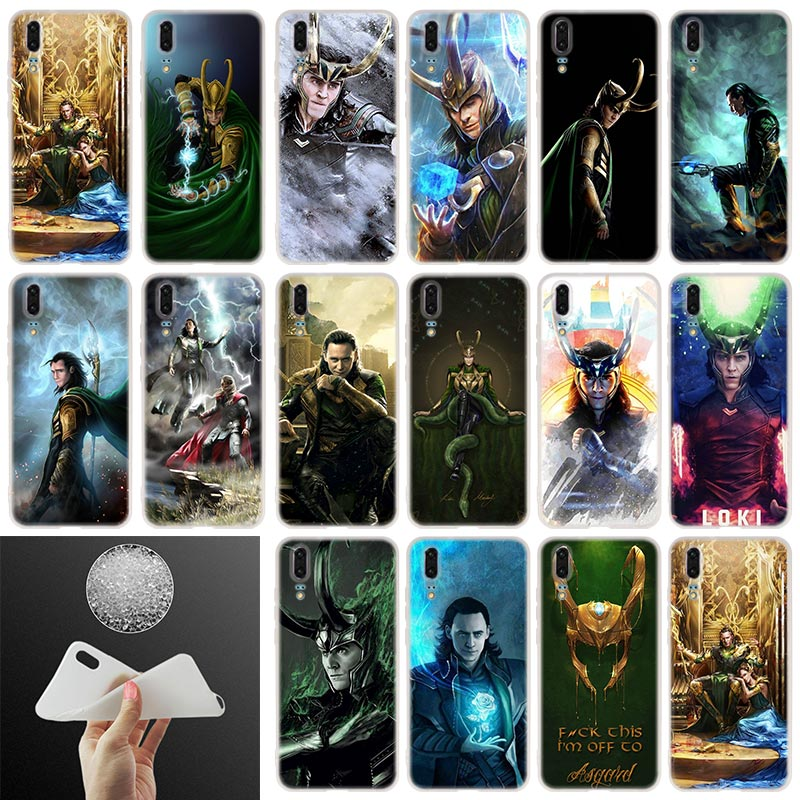 Funda de teléfono de silicona suave Marvel Loki para Huawei P30 P20 P30Pro P10 P9 P40 2017 P samrt 2019 Plus