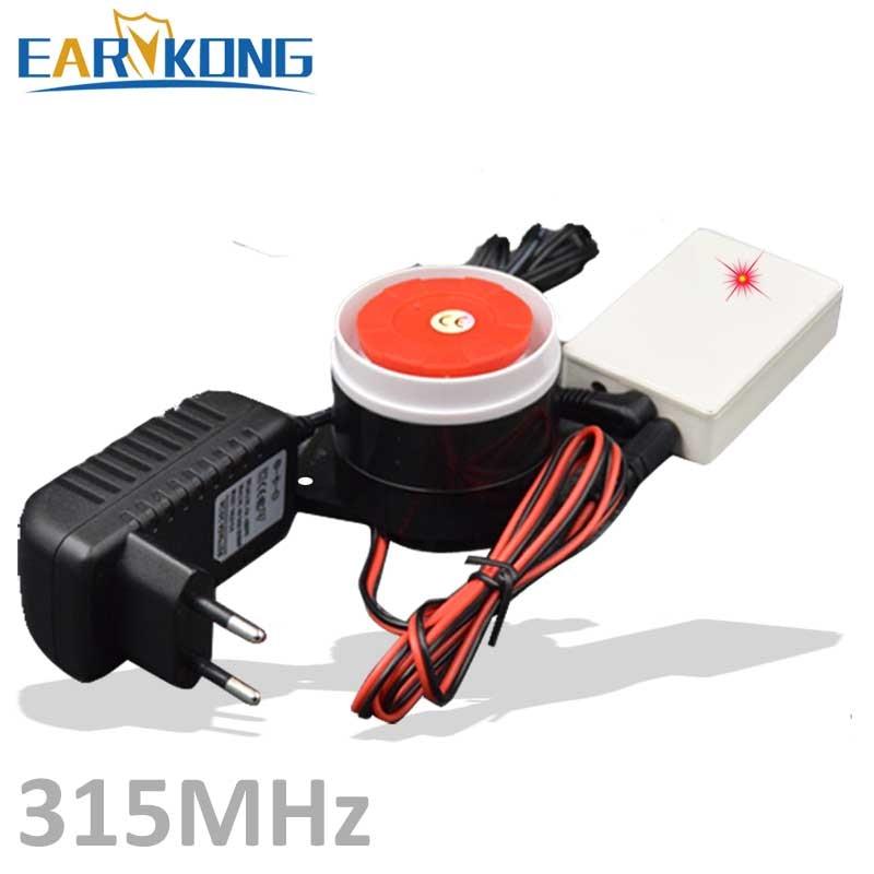 Grandes promociones, sirena inalámbrica para sistema de alarma antirrobo para el hogar, sirena inalámbrica para sistema de alarma GSM, CS-01 más Popular de 315MHz