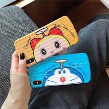 Classical cartoon Doraemon friends arc suitcase luggage phone case for iphone 6 7 8 plus X XR XS MAX super cute Anti knock Cover