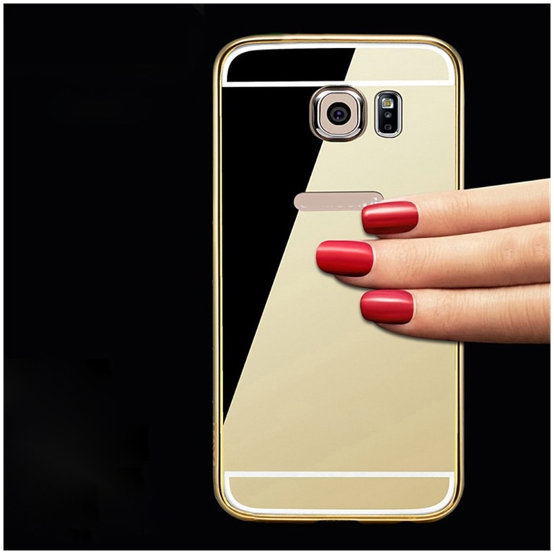 For Samsung Galaxy Note 10 Plus 3 4 5 J4 J6 J8 A9 A8 Plus 2018 A20 A30 A50 A70 J2 Pro Mirror case Aluminum Frame PC back cover