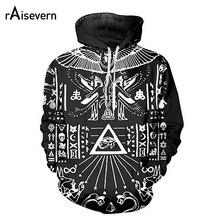 Raisevern Illuminati Pharaoh Hoodie Harajuku 3D Punk Streetwear Hoody Sweatshirts Long Sleeve Hooded Tracksuits Drop Shipping