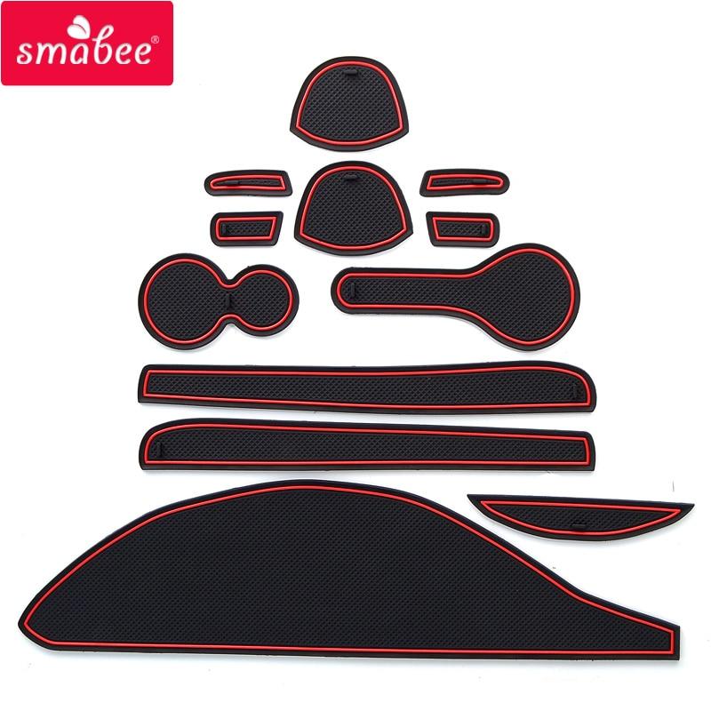 Smabee-سجادة مطاطية للسيارة ، سجادة مطاطية ثلاثية الأبعاد ، لنيسان كيوب Z12 ، إكسسوارات يابانية جنوب شرق شرق ، أحمر ، أبيض ، أسود