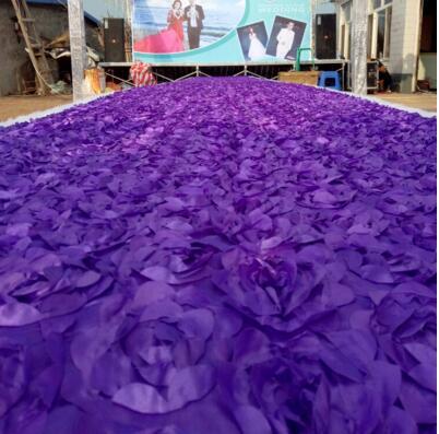 10 m/lote 1.4 m de Largura Branco Romântico 3D Pétala de Rosa Corredor Corredor Tapete Para O Contexto De Casamento Centrais Favores Do Partido Decoração
