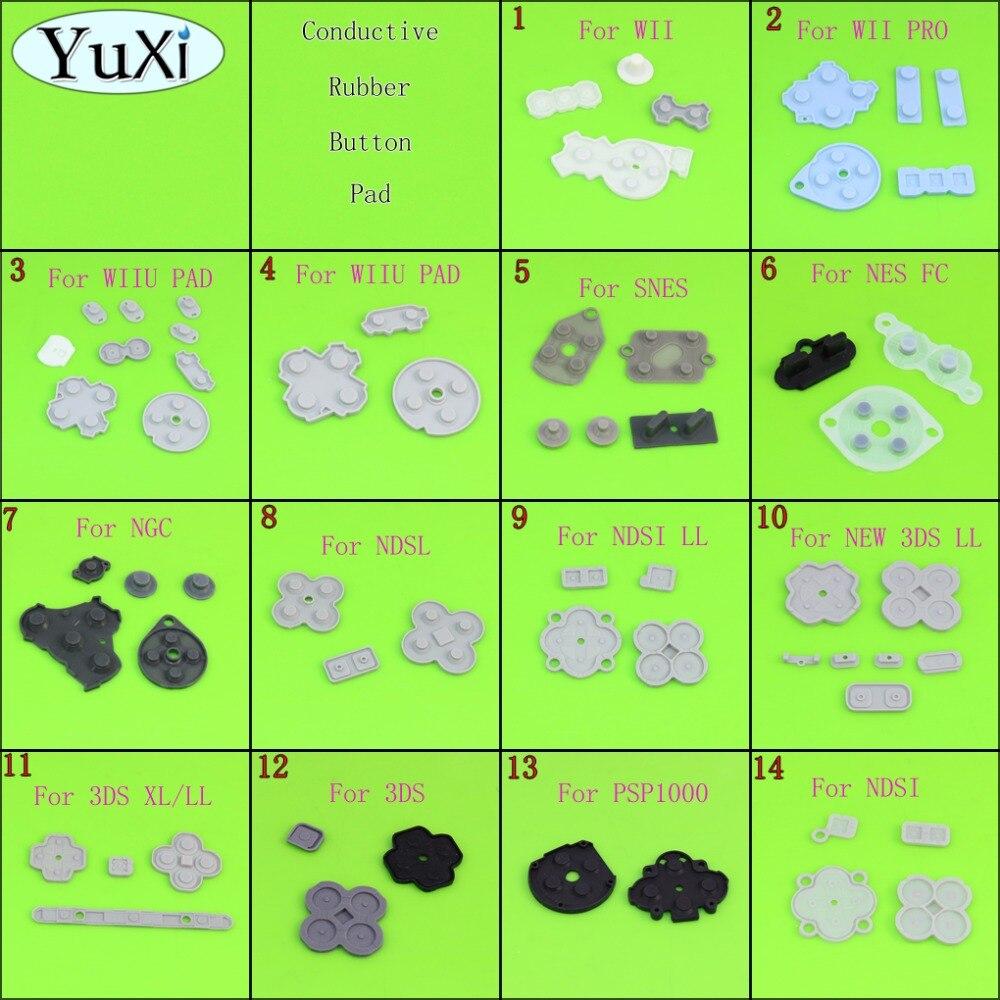 YuXi Für WIIU PAD WII PRO FÜR NDSI LL XL NEW 3DS SNES NES Leitfähigen Gummi Silikon Pads Tasten Für NEUE 3DS XL LL konsole