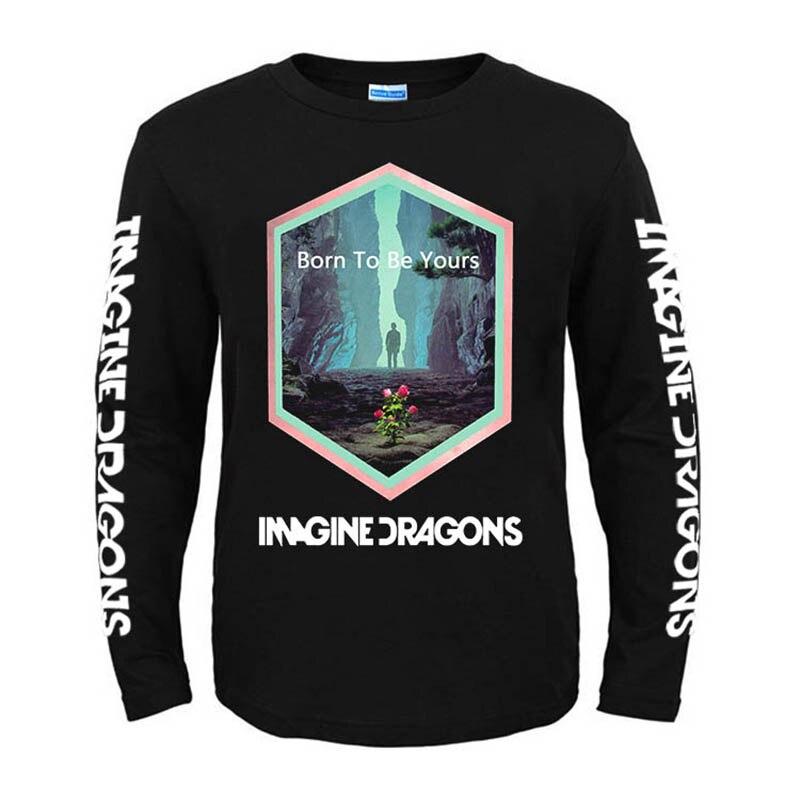 Bloodhoof Imagine Dragons Roots alternativo Rock Indie Pop Camiseta de manga larga de algodón con cuello redondo talla asiática