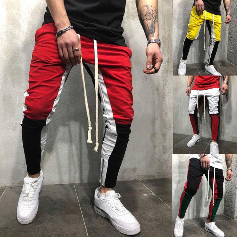 2019 männer Thermische Kompression Jogger Hosen Mode Sport Gym Workout Hip Pop Beiläufige Dünne Hosen
