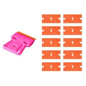 Image 5 - EHDIS скребок для очистки стекла, бритвенный скребок + 10 шт. пластиковых лезвий, автомобильные тонировочные инструменты, стикер для автомобиля, пленка для удаления клея, инструмент для виниловой обертки