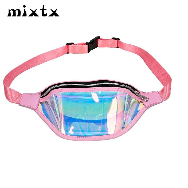 Gran oferta bolsa de cintura para mujer, hombre, bolsa de pierna Unisex, tendencia para mujer, riñonera, bolsa de playa con láser de gelatina, bolso de hombro, bolsillo para teléfono móvil