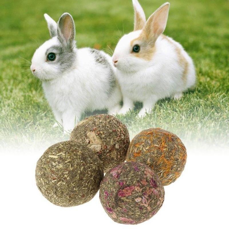 2 pçs pet bola grama hamster mastigar dentes moagem grama jogar brinquedos para porco coelho chinchila pequenos animais suprimentos