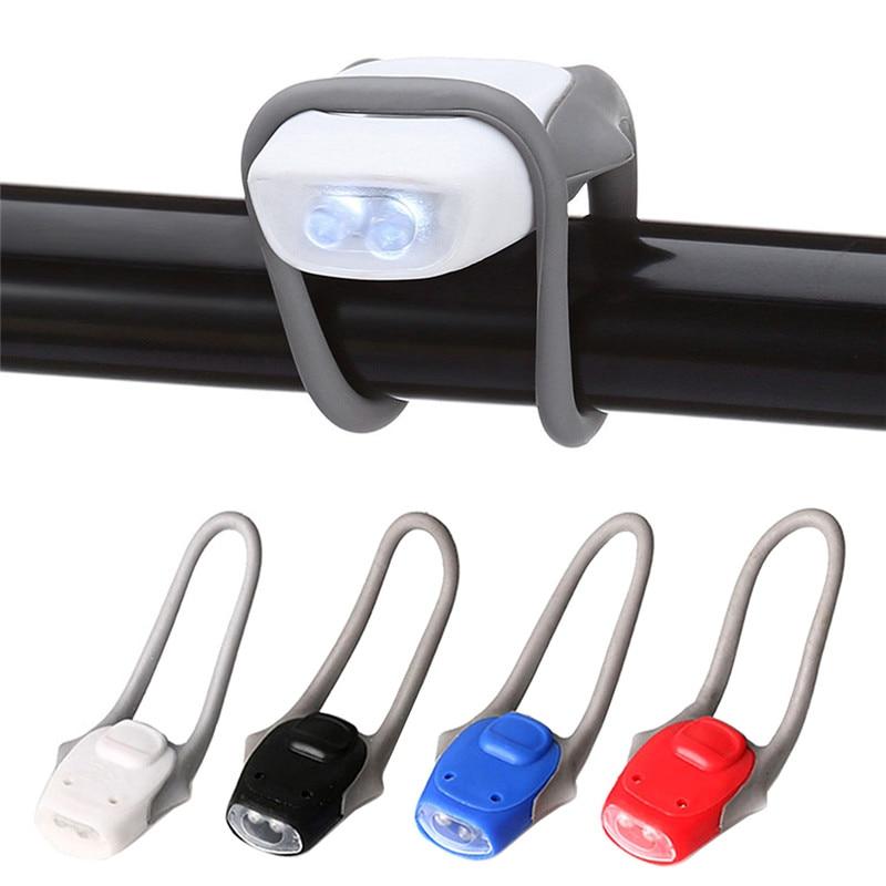 Nuevo estilo Universal LED impermeable Bycicle faro delantero Gel de sílice piñón fijo faro bici linterna de advertencia de seguridad #288823