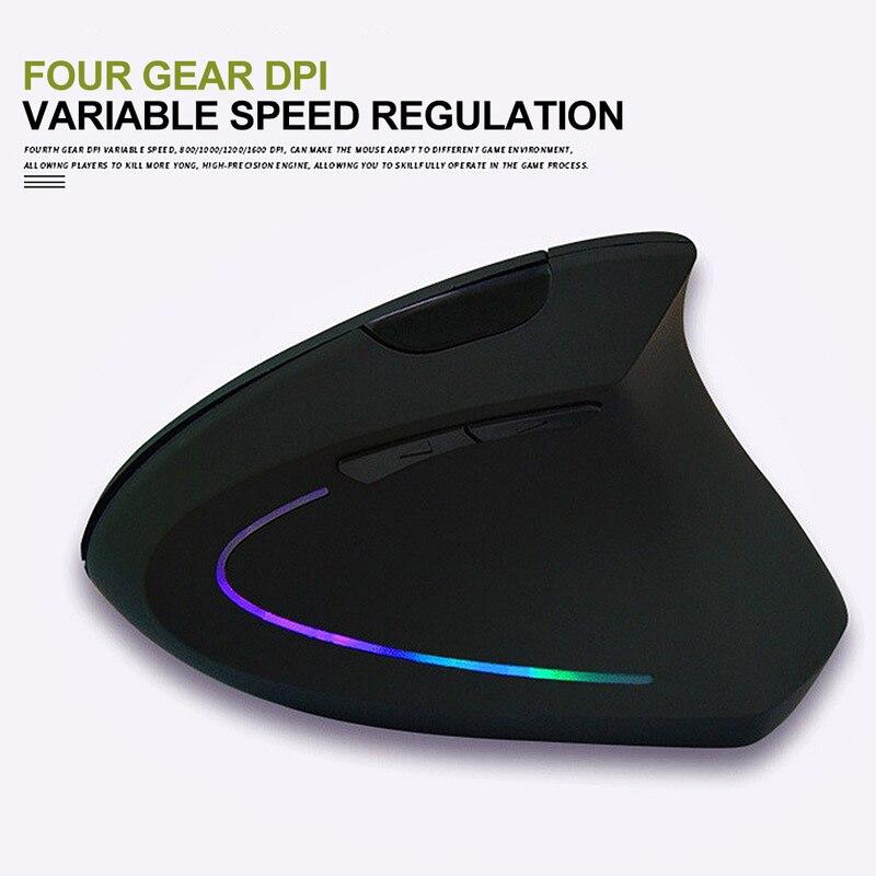 Ratón inalámbrico Vertical ergonómico de aleta de tiburón para ordenador portátil, ratón inalámbrico de 2,4 GHz, ratón de Gaming inalámbrico, receptor USB, ratón Pro Gamer