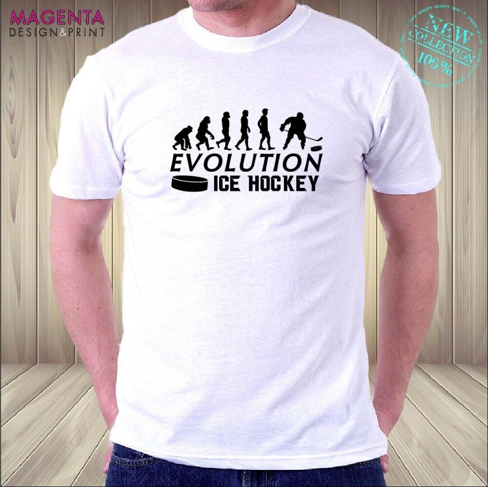 Camiseta 2019 moda hombres evolución hielo hockey SLAPSHOT PUCK fan camiseta GR8 divertido regalo de cumpleaños