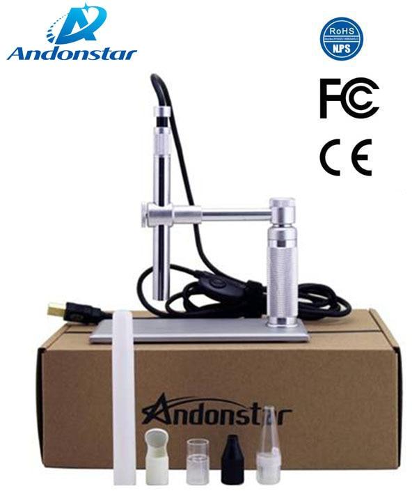 Endoscopio microscopio Digital USB portátil de aumento Andonstar 1-500x Industrial, salud, colecciones, inspección PCB