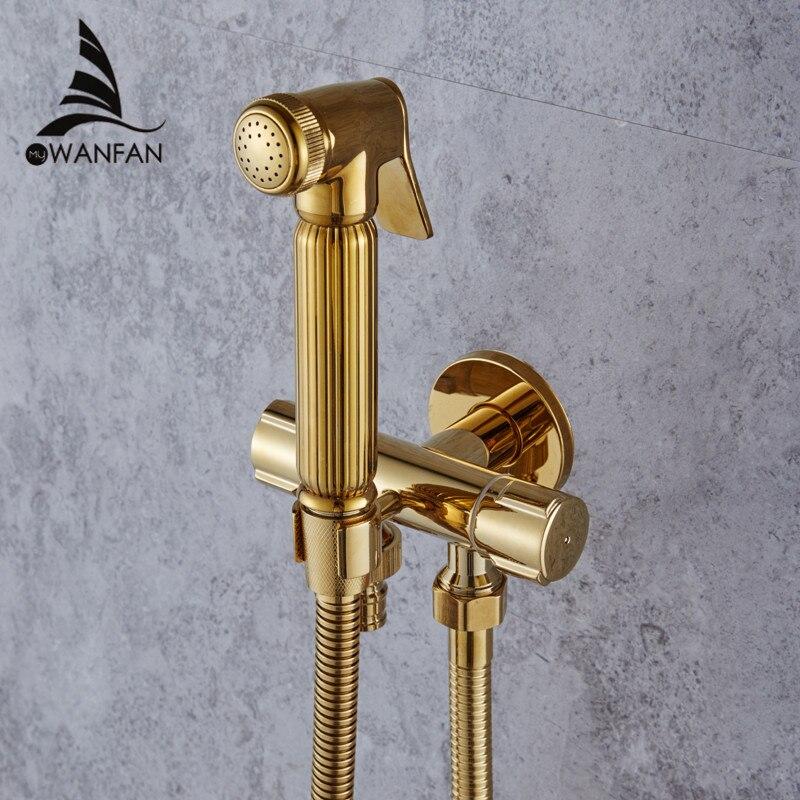 Bidet Armaturen Wand Messing Kalten Wasser Wc Ecke Ventil Handheld Hygienische Dusche Kopf Waschen Auto Pet Sprayer Airbrush Tap 1001