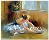 abstract huge art oil painting wall decorate ballet girl no framed free shipping