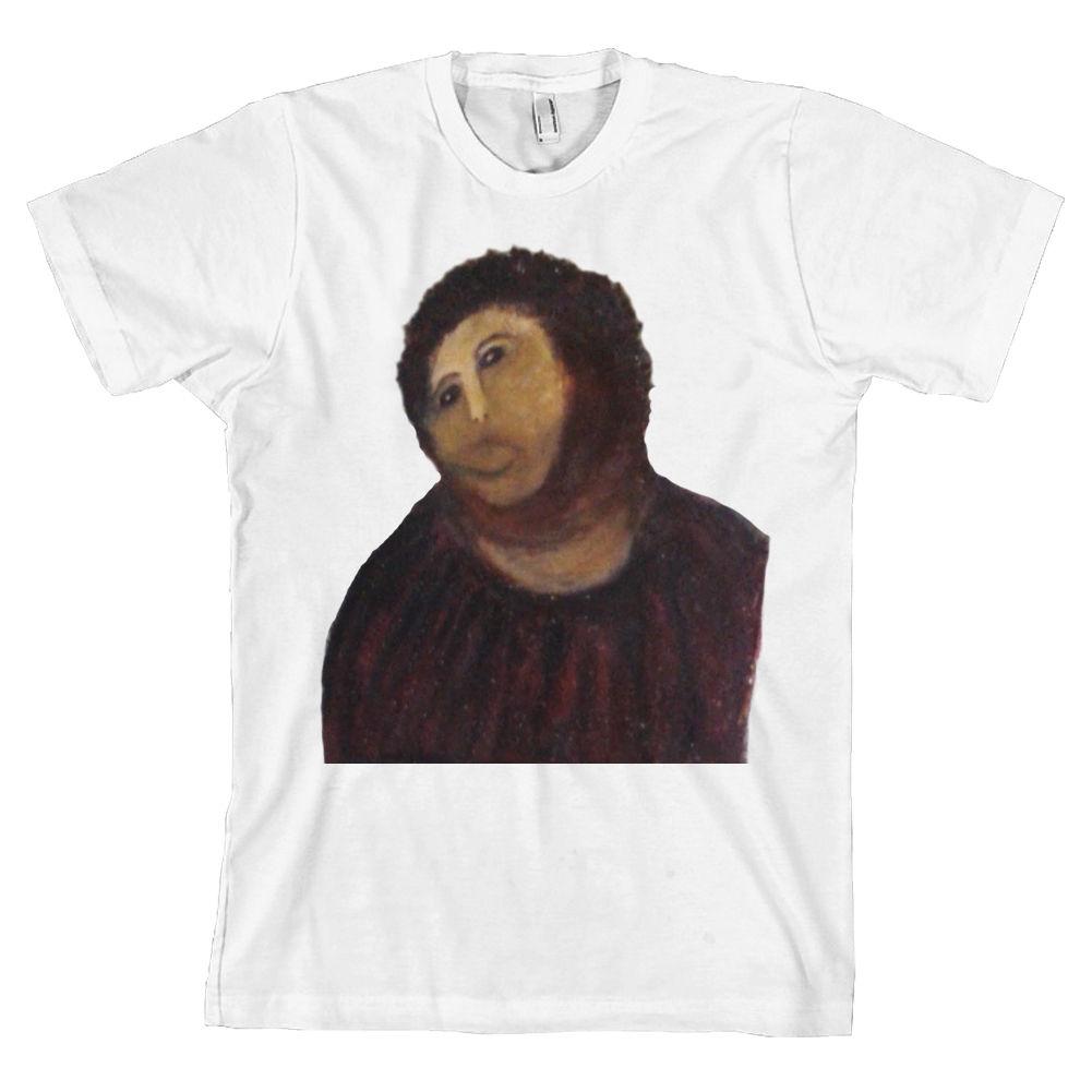 Ecce Homo Botched pintura camiseta Papa Jesús Meme 4chan divertida España Tee * NUEVO * envío gratis Tops camiseta marca de moda
