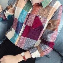 Décontracté coton à manches longues Chemise à carreaux femmes Slim Blouse hauts dames bureau moulante Blusas Chemise Femme