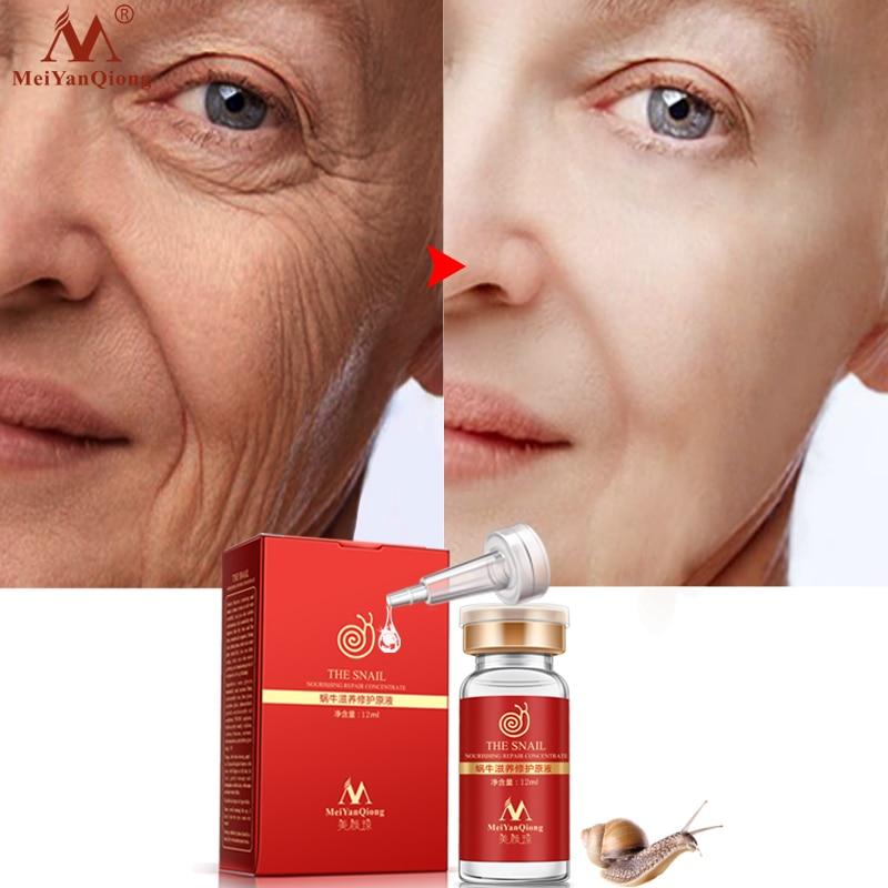 MeiYanQiong esencia Natural pura de Caracol líquido ácido hialurónico blanqueamiento Spot Caracol esencia rejuvenecimiento de acné esencia cuidado de la piel