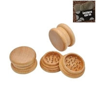 latest upscale wood 54x31mm 2 layers smoking herb grinders tobacco cigarette quality grinder accessories