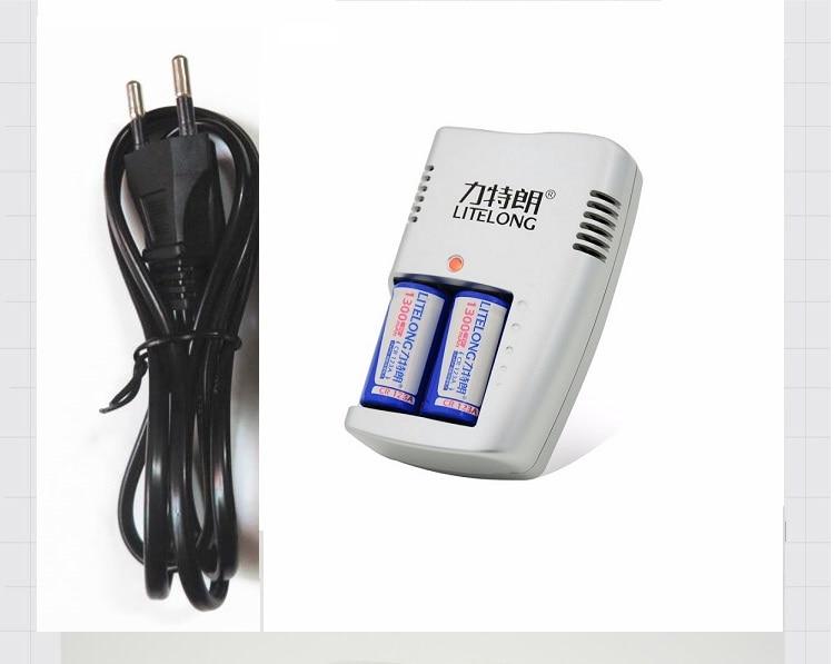 Envío gratis 2 piezas CR123A batería de litio de 3 V CR17345 Cámara batería de litio 16340, batería de Linterna + 1 piezas 3 V cargador de batería