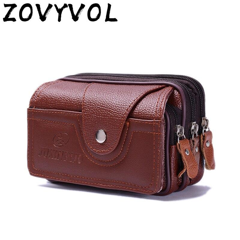 Винтажная поясная сумка ZOVYVOL, Мужская круглая поясная сумка, дешевая поясная сумка, многофункциональная модная сумка для монет, для путешес...