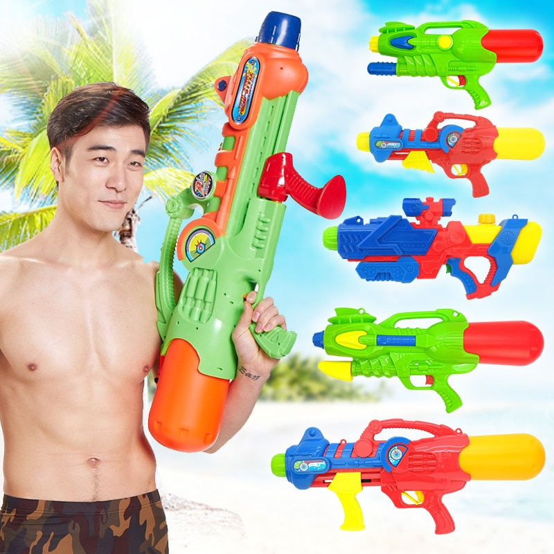 Pistola de agua de alta presión de juguete pistola de agua con mochila juguete de playa natación verano pistola de agua caliente y pistola de agua de alta presión alcance lejano