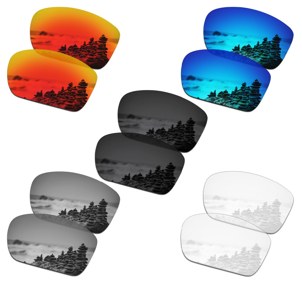 SmartVLT-5 أزواج من النظارات الشمسية المستقطبة ، عدسات بديلة لـ Oakley Big Taco