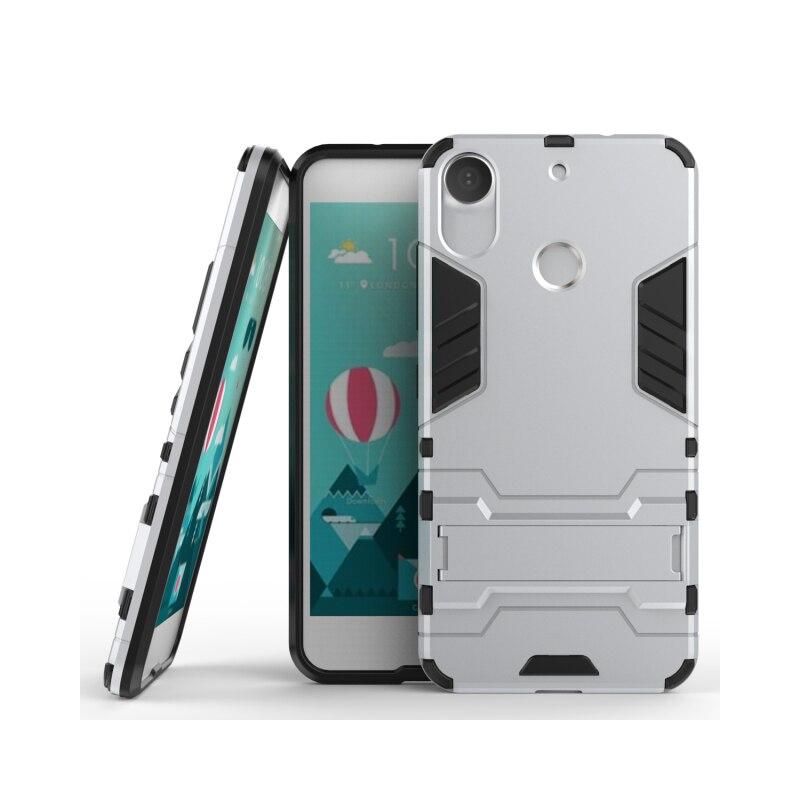 Para HTC Desire 10 Pro 5,5 caso de lujo híbrido a prueba de golpes a prueba armadura dura defensor Funda de silicona para HTC Desire 10 Pro caso cubierta de Funda